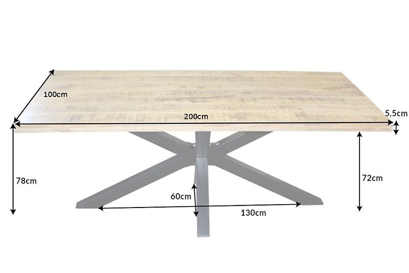 Table de salle à manger 2 m bois massif