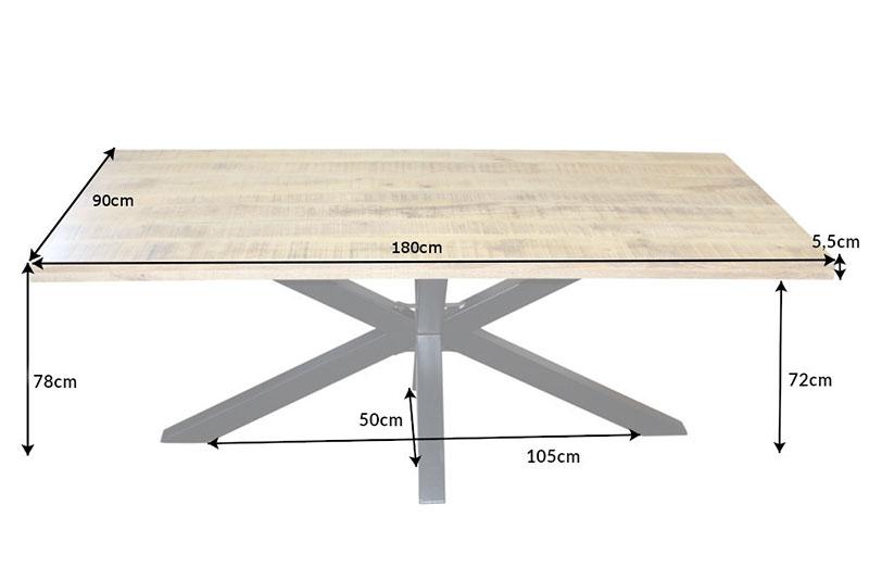 Table à manger bois massif métal