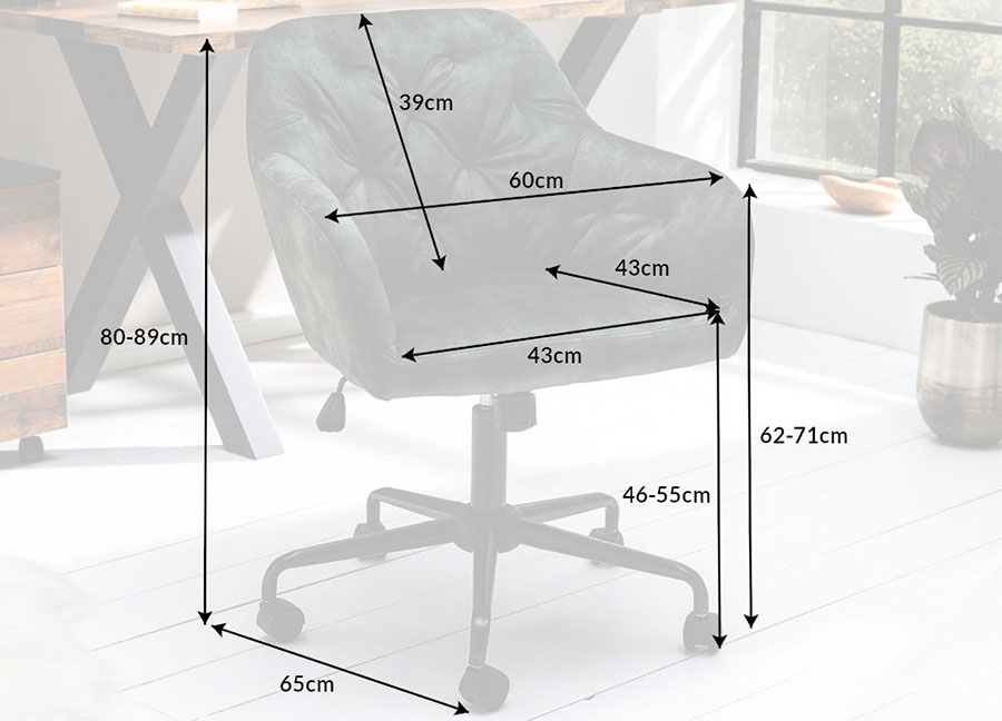 fauteuil de bureau velours vert
