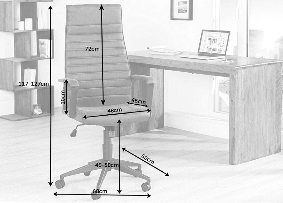 fauteuil de direction gris réglable en hauteur
