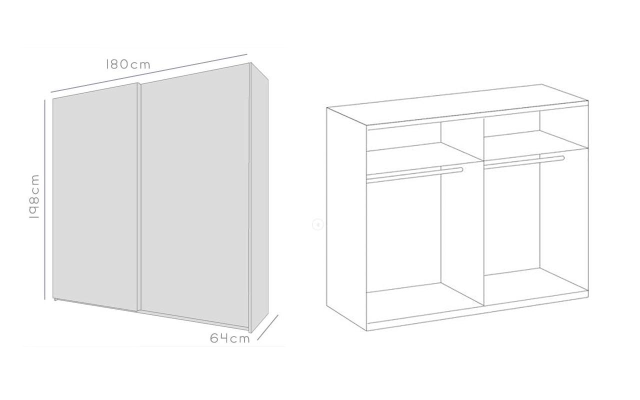 Détail de l'armoire de chambre bois