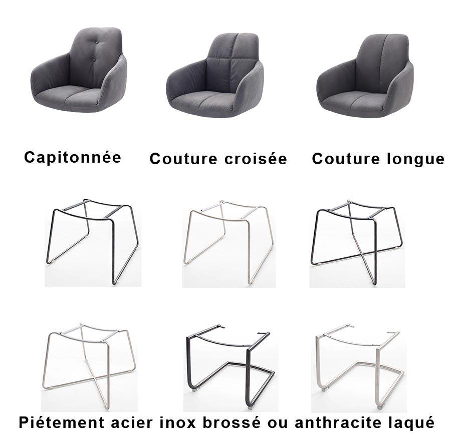 chaise grise avec accoudoir