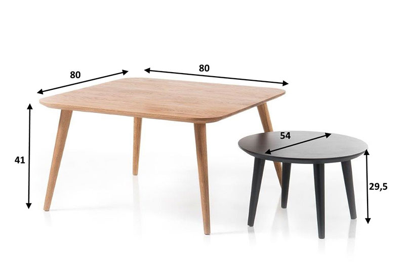 Ensemble de 2 tables basses