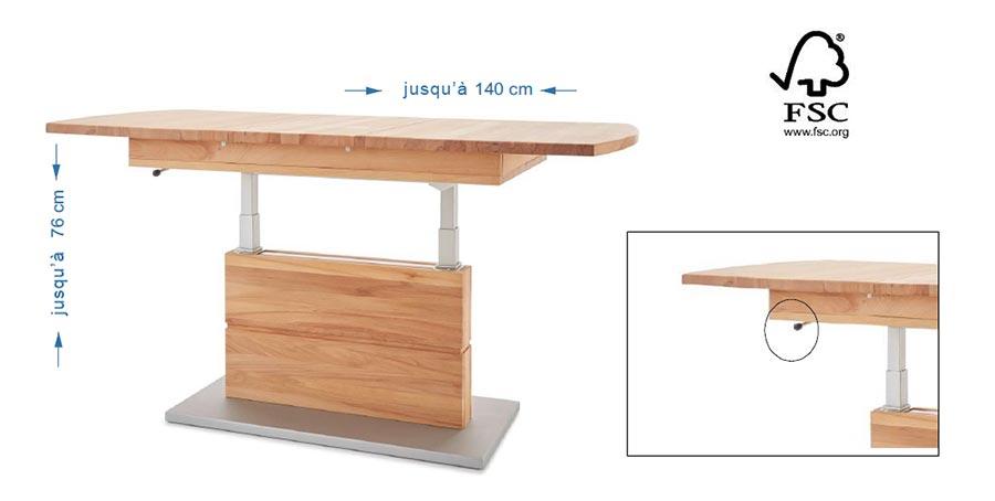 Table basse haute qualité label FSC