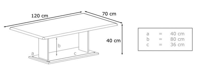Détail de la table basse pas cher