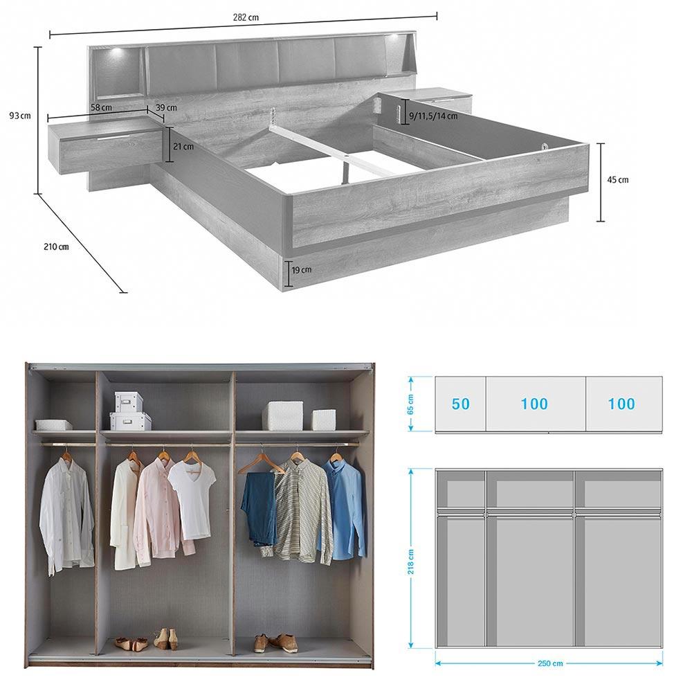 Chambre coucher adulte compl te moderne cbc meubles for Chambre complete adulte payable en plusieur fois