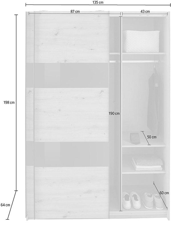 Dimensions détaillées de l'armoire